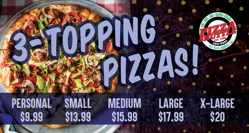 3-Topping Pizza Specials