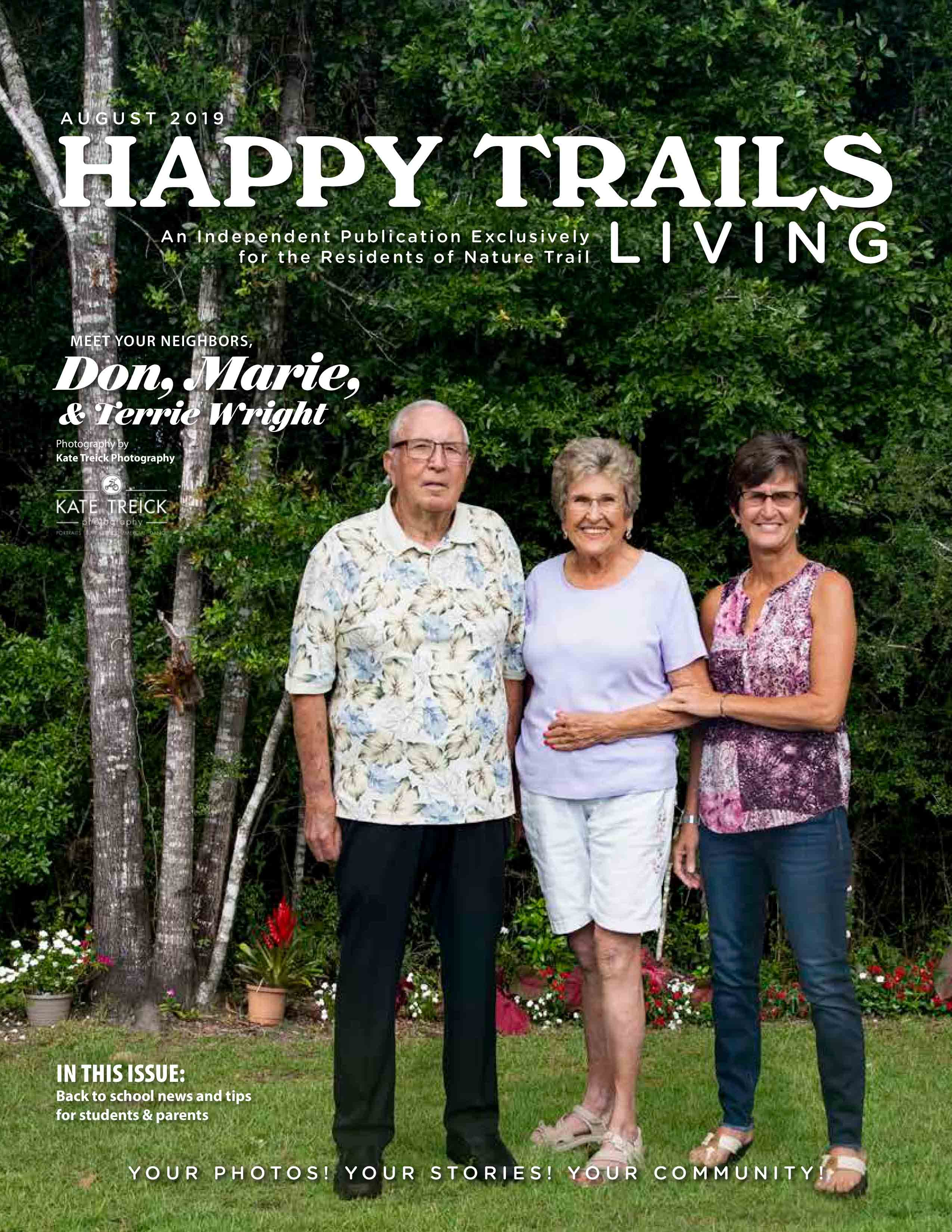 Happy Trails Living Cover for August 2019
