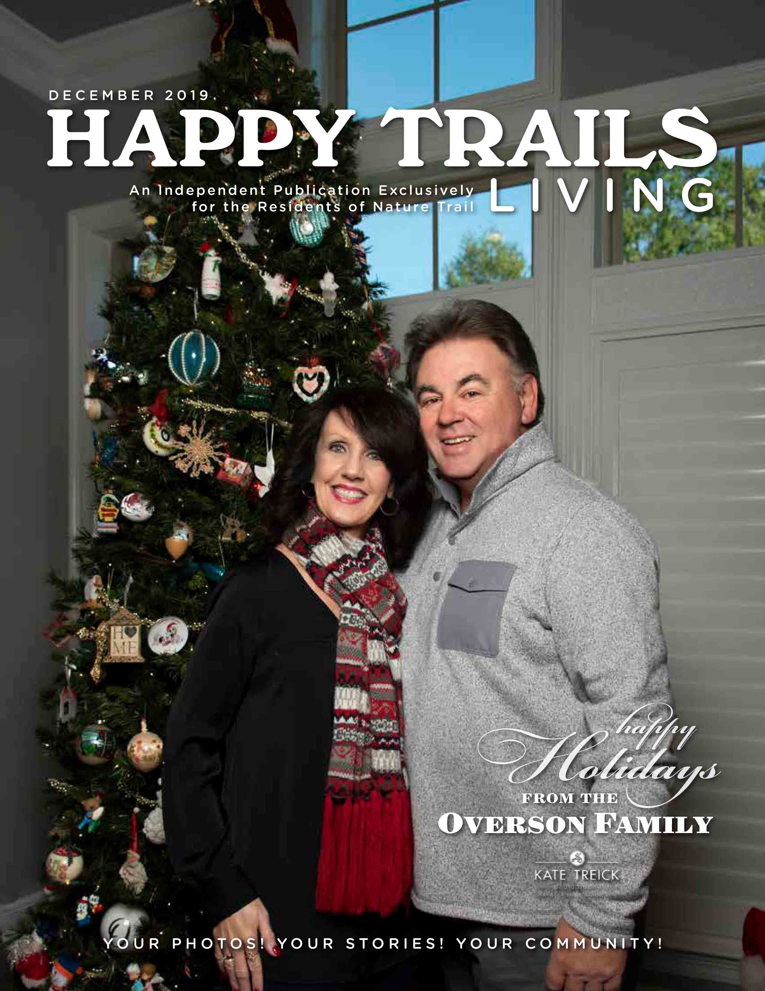 Happy Trails Living Cover for December 2019