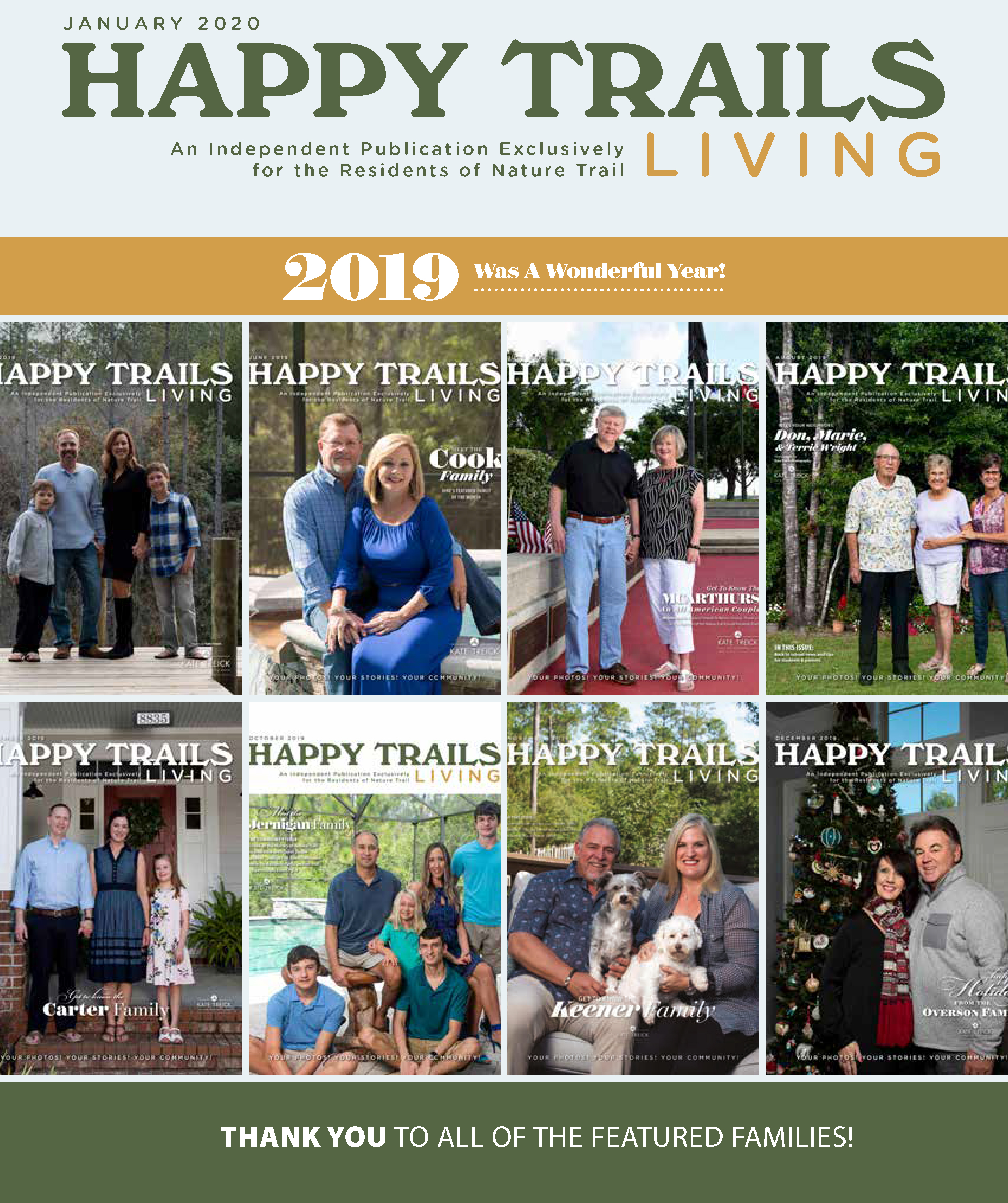 Happy Trails Living Cover for January 2020