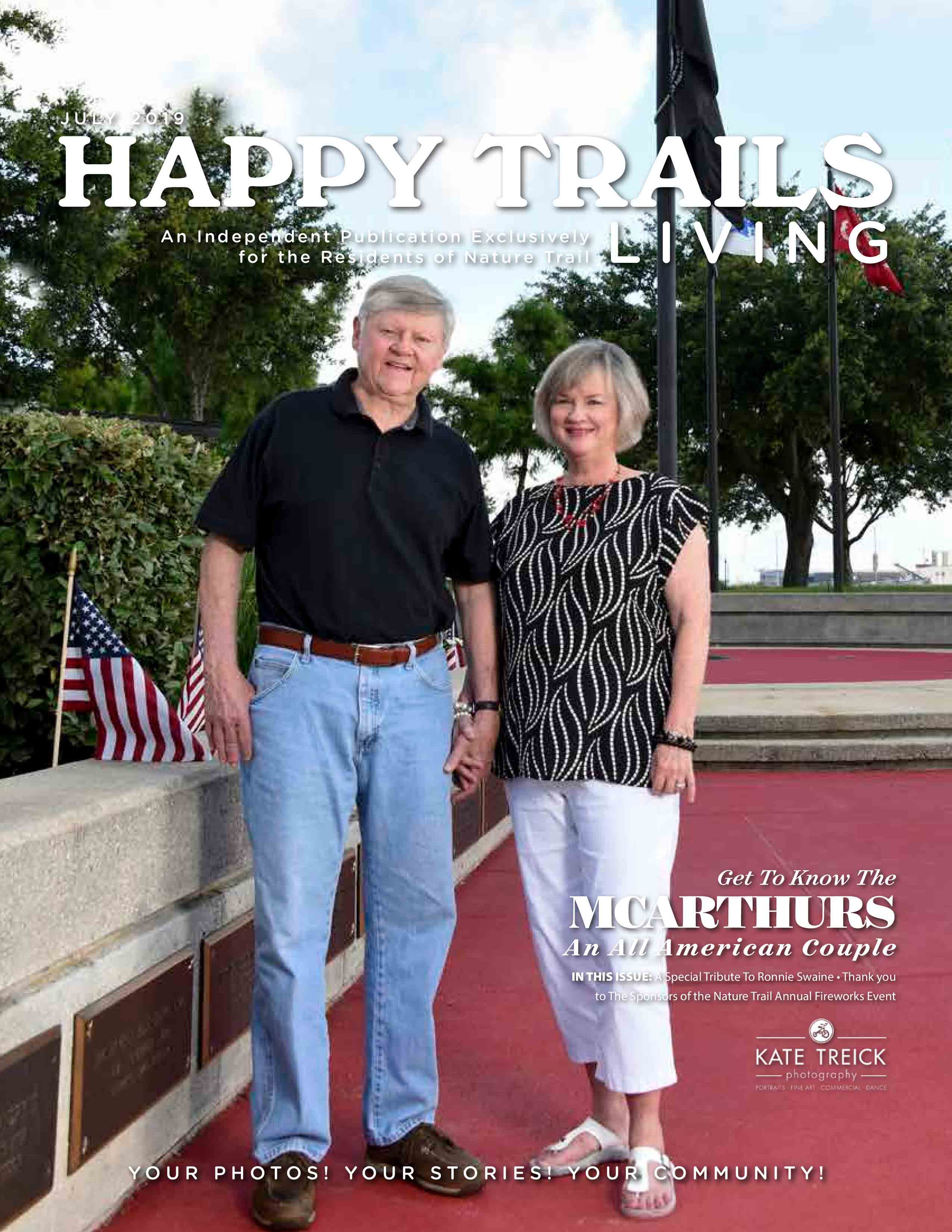 Happy Trails Living Cover for July 2019