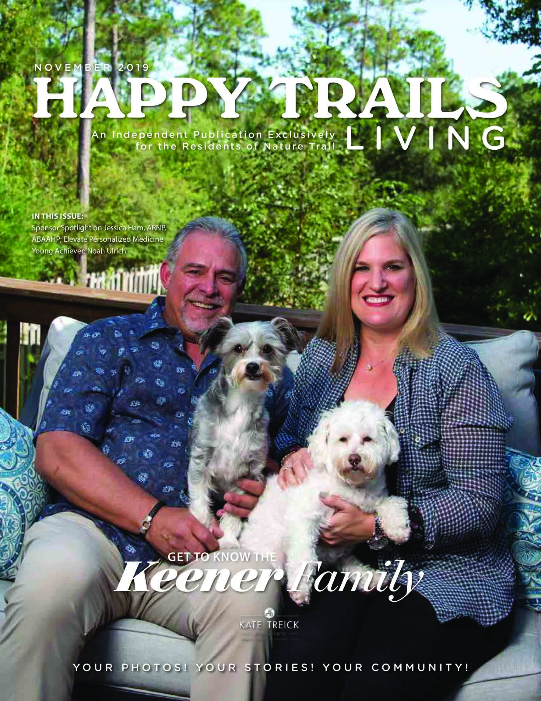 Happy Trails Living Cover for November 2019