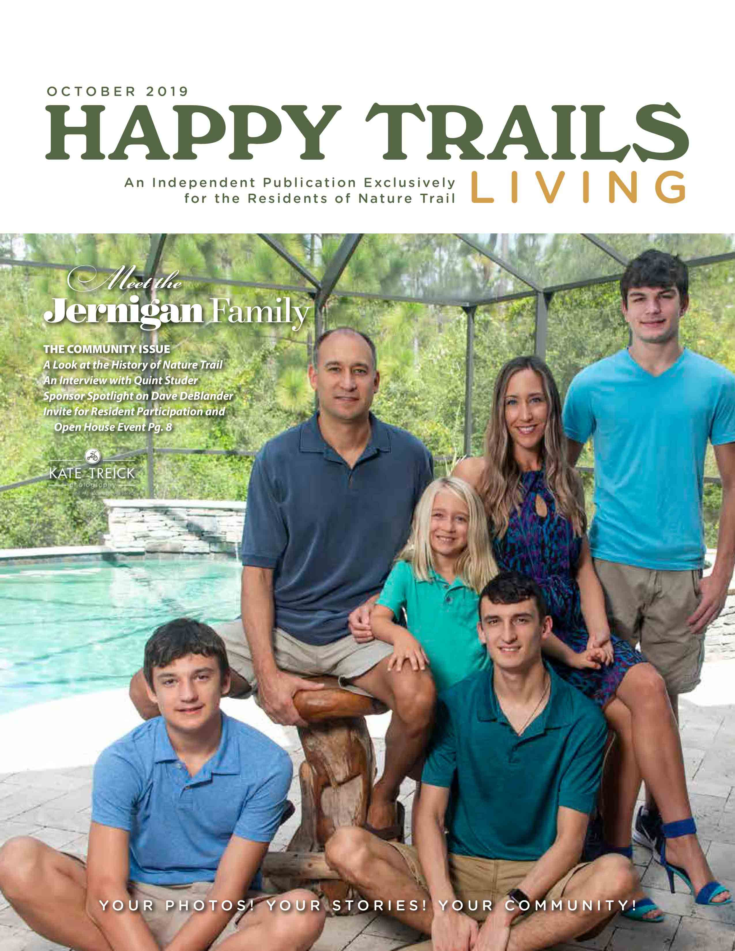 Happy Trails Living Cover for October 2019