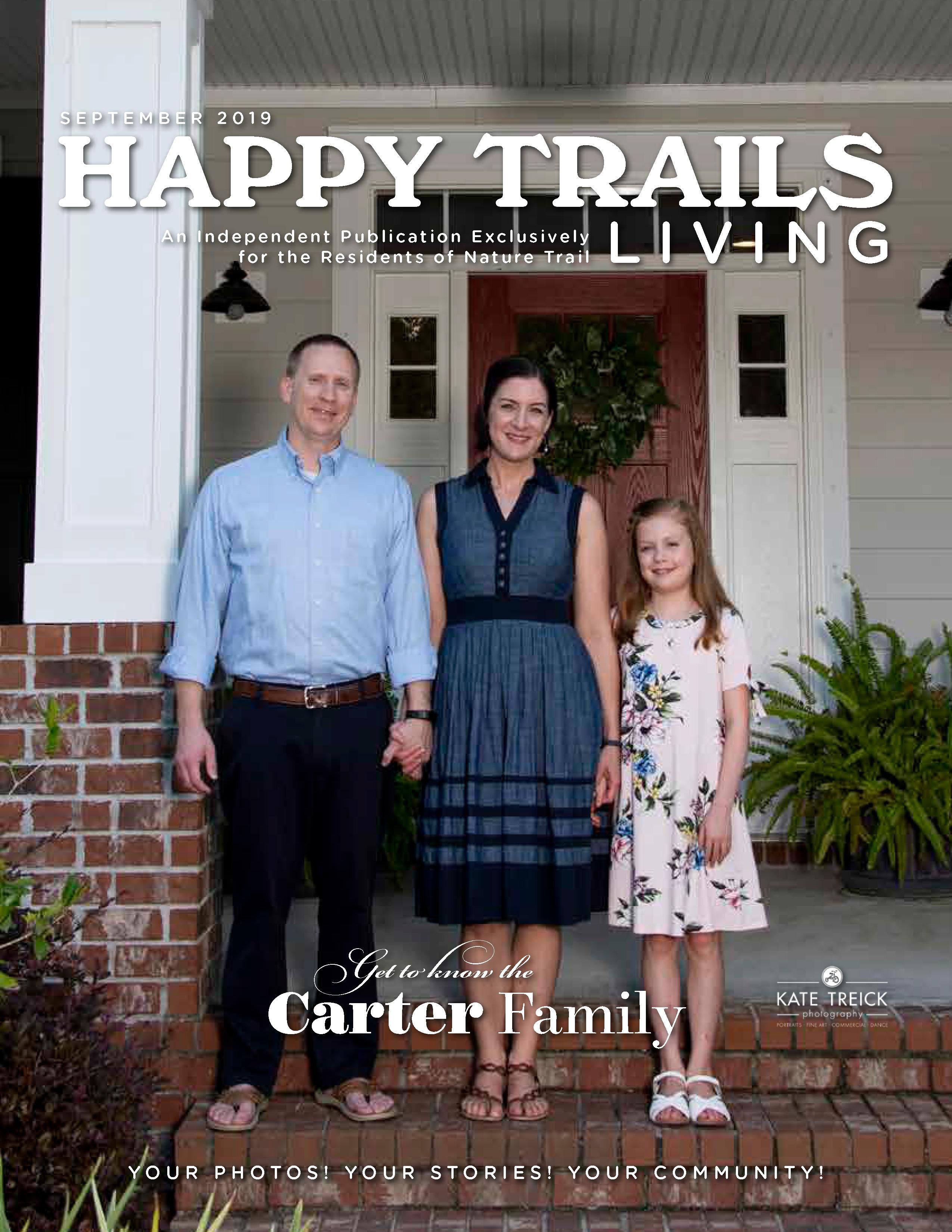 Happy Trails Living Cover for September 2019