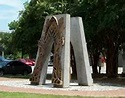 Leaning arches sculpture for the 911 Tribute in Downtown Pensacola, Florida