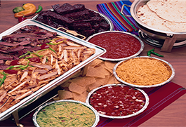 Catering platters from El Chico