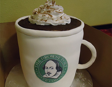 Coffee Cup Cake of Drowsy Poet Coffee