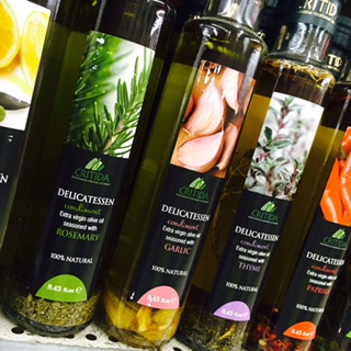 Flavored oils at Apple Market