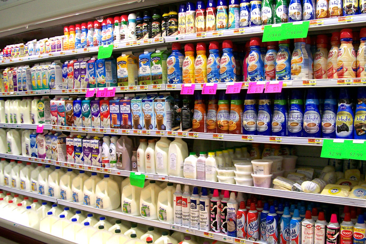 Dairy Aisle at Apple Market