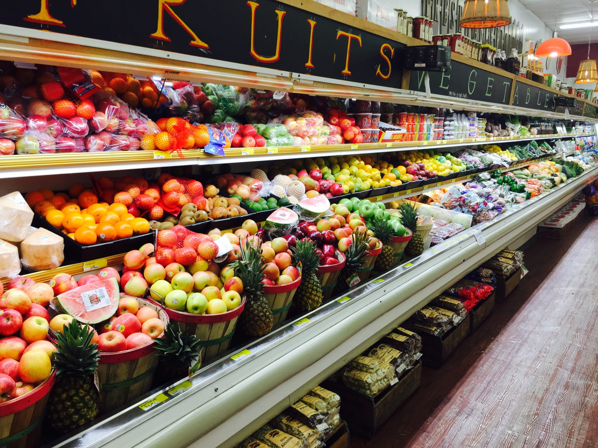Produce Aisle at Apple Market