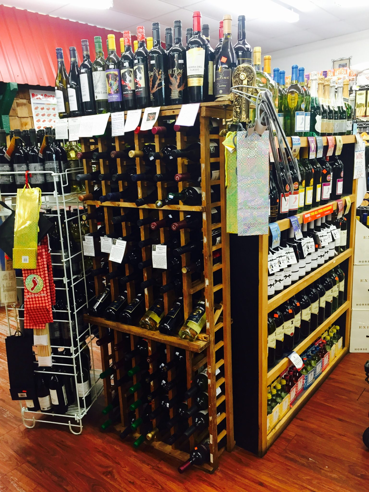 Wine Racks at Apple Market