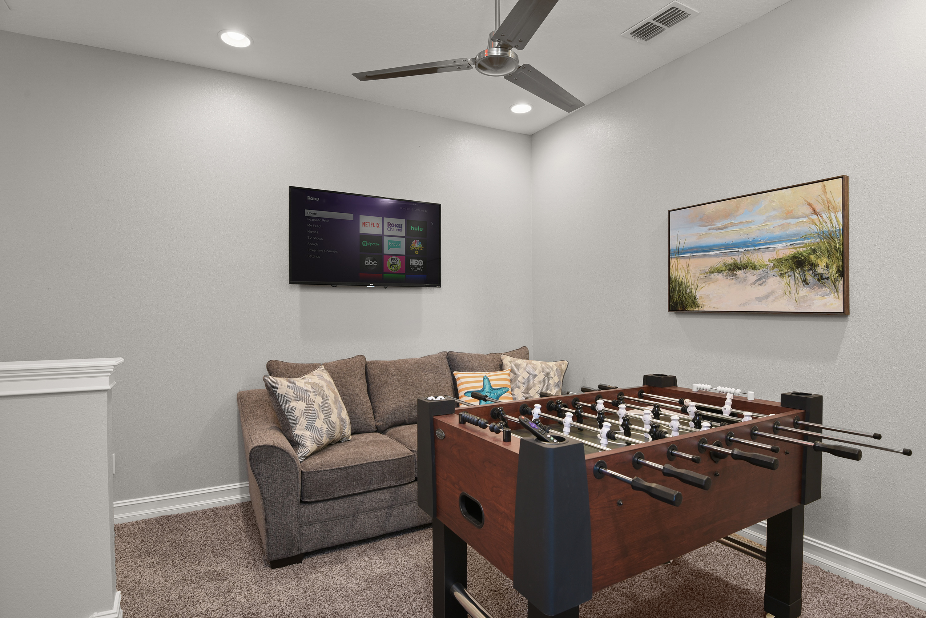 Foosball table in property
