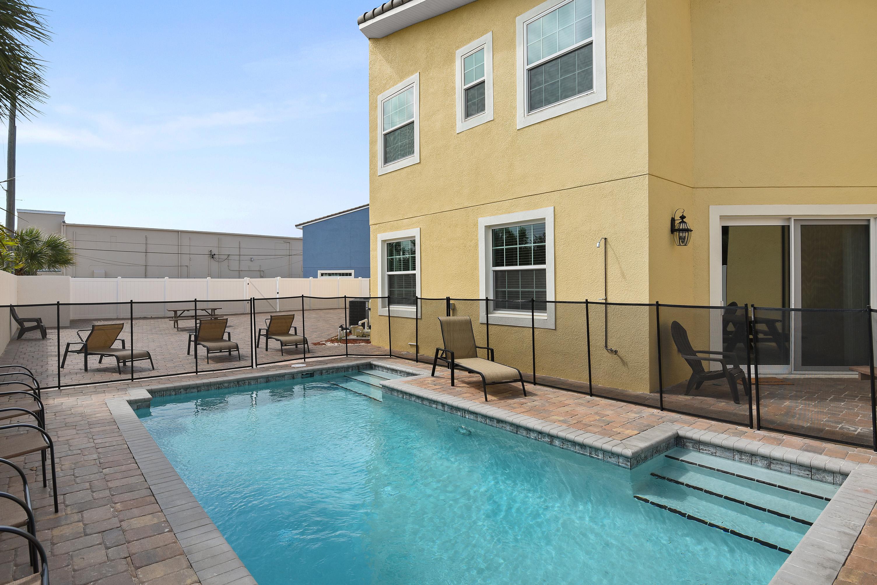 Pool outside of property