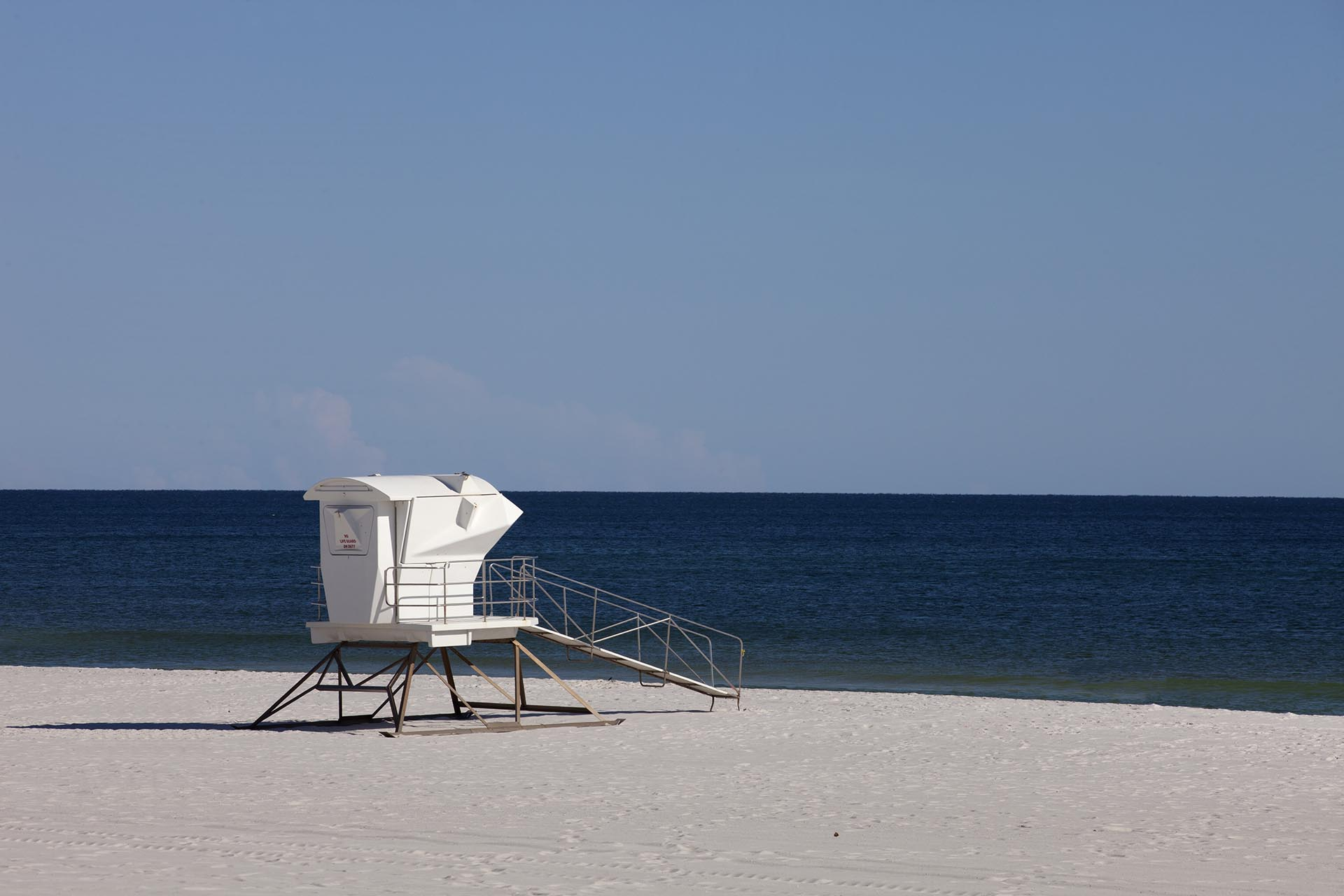 lifeguard tower on empty beach