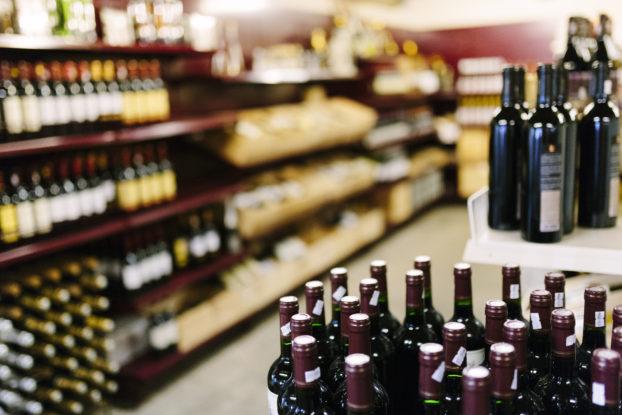 liquor store aisle