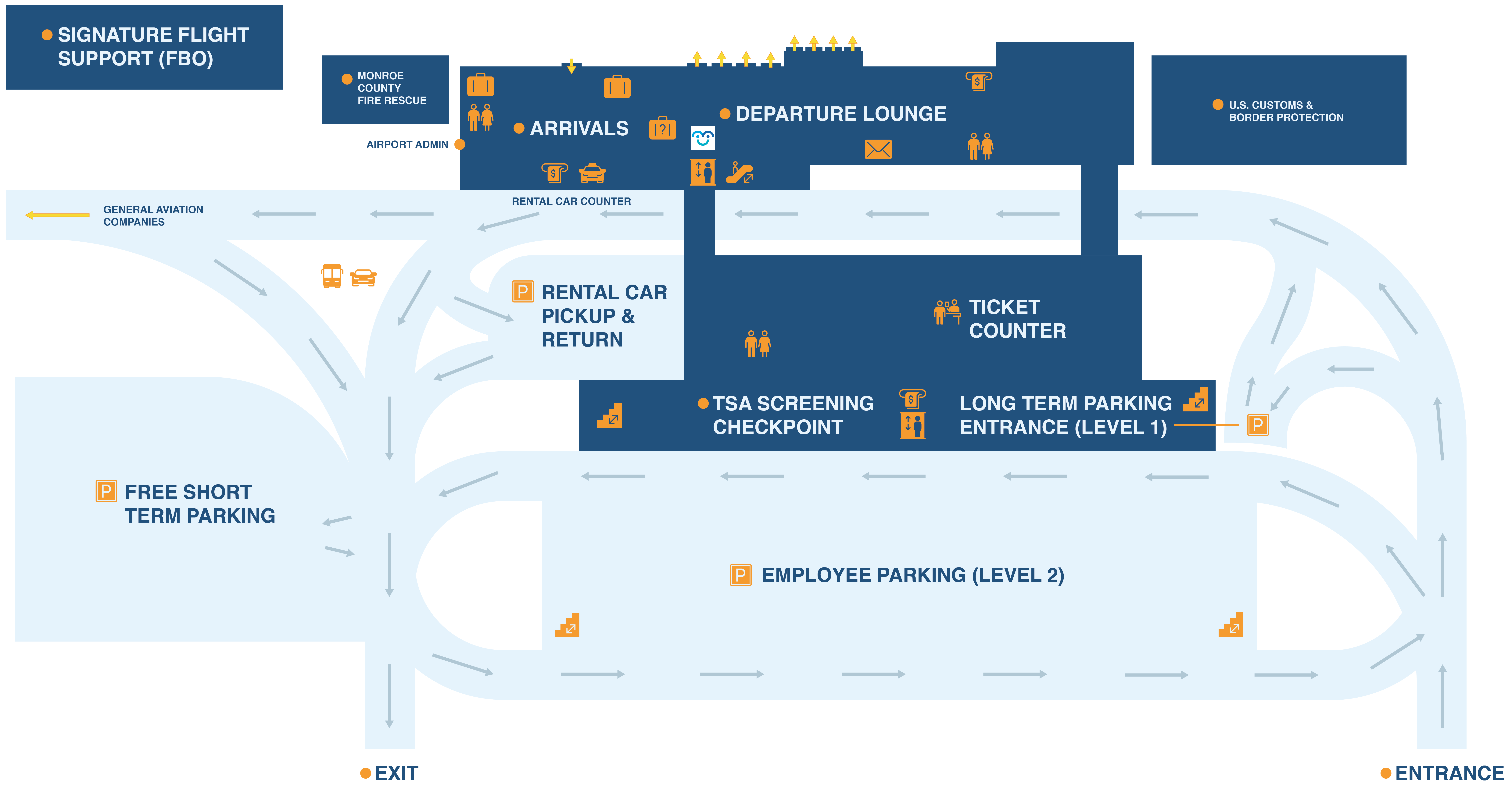 Airport terminal map