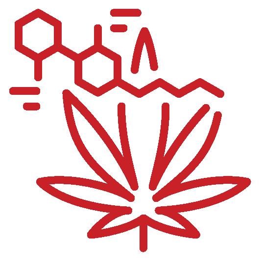 CBD molecule icons