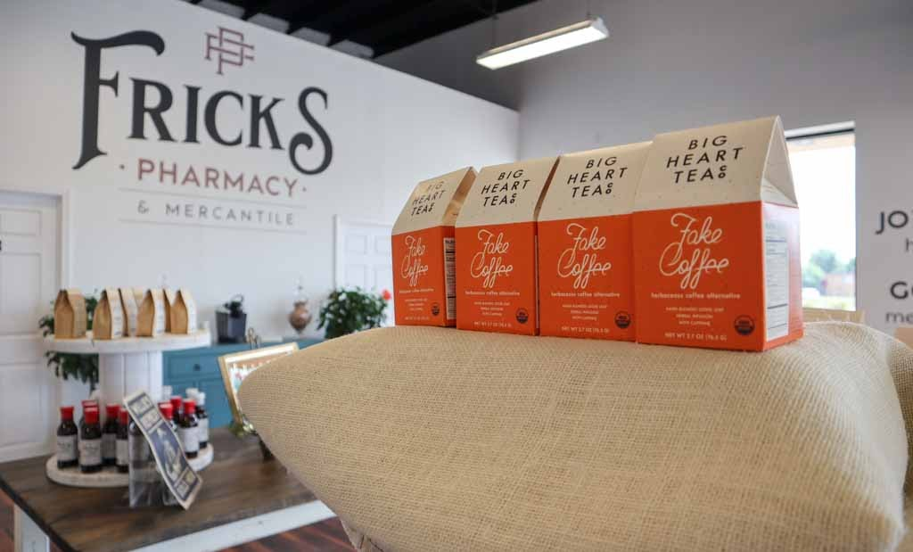 Coffee and Teas sold at Fricks Pharmacy