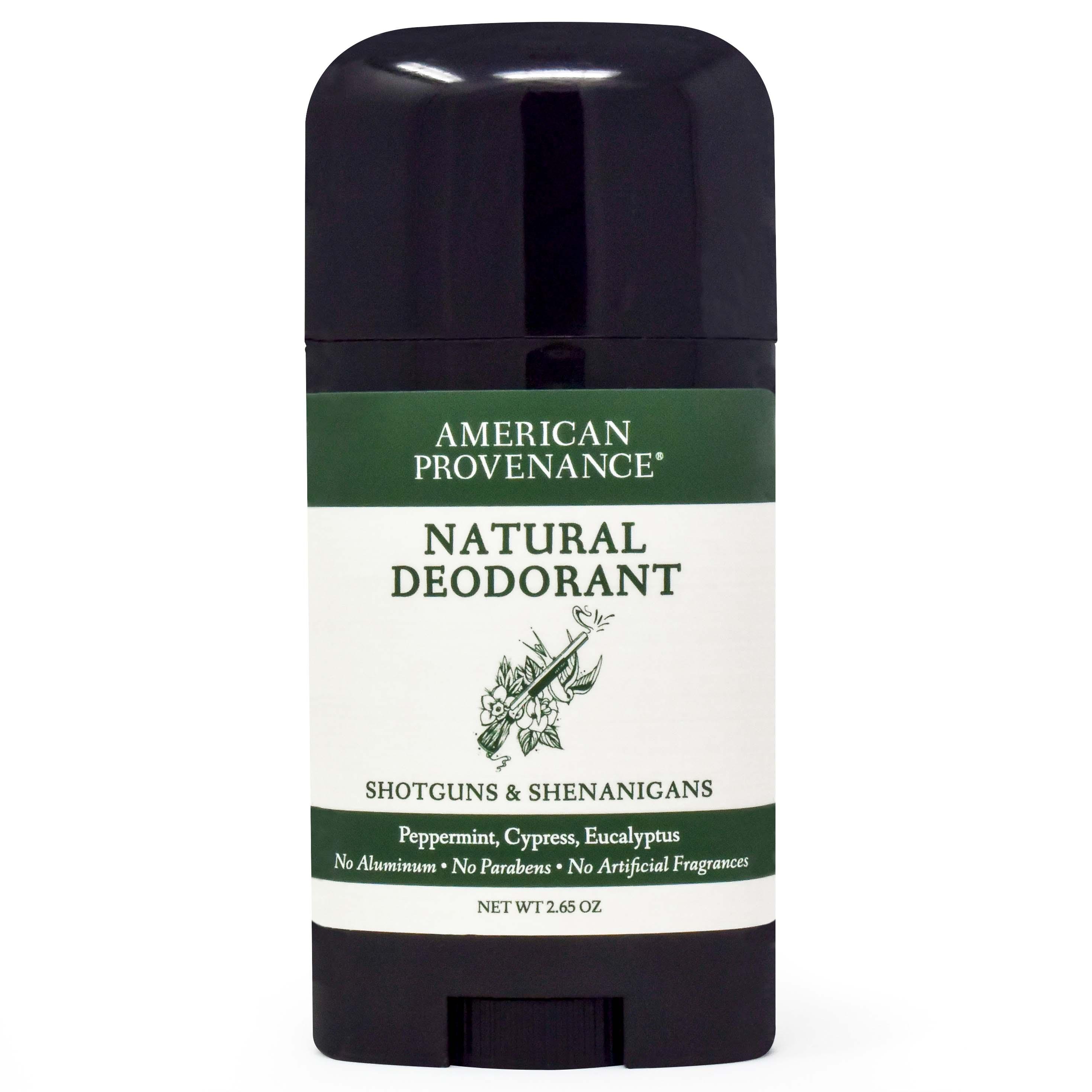 American Provenance Natural Deodorant Shotguns + Shenanigans