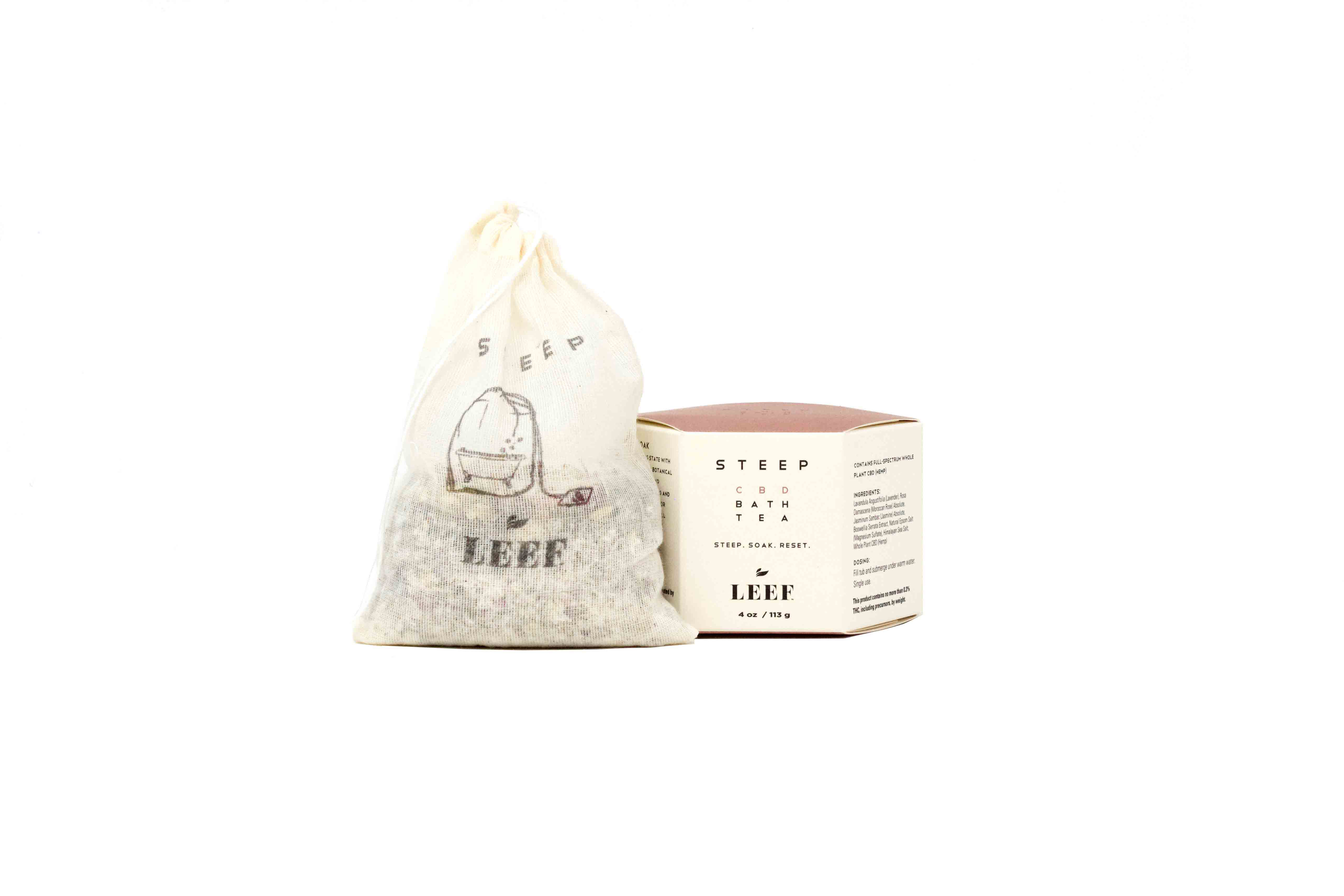 LEEF Organic Steep - CBD Bath Tea