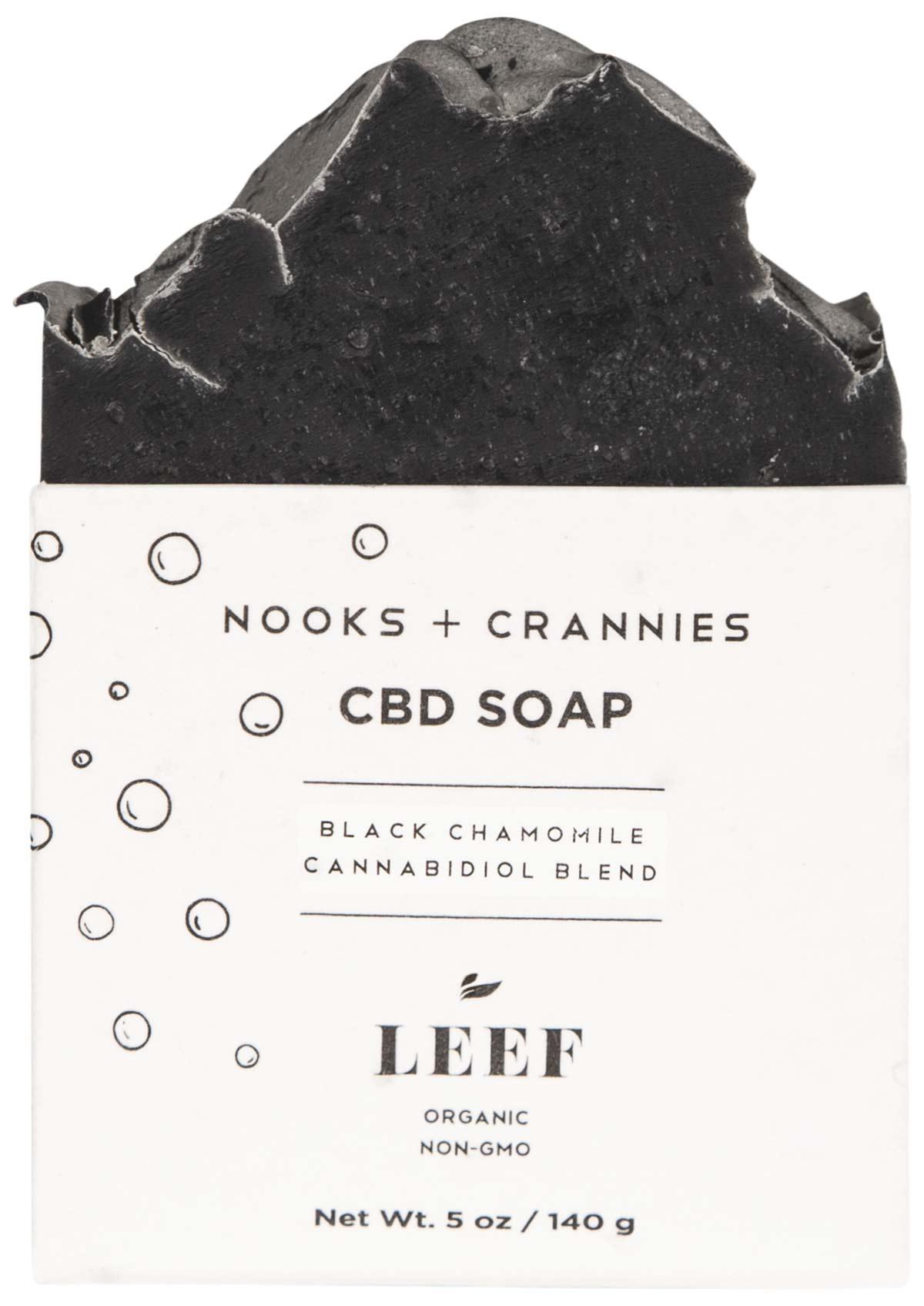 LEEF Organic Nooks + Crannies CBD Soap