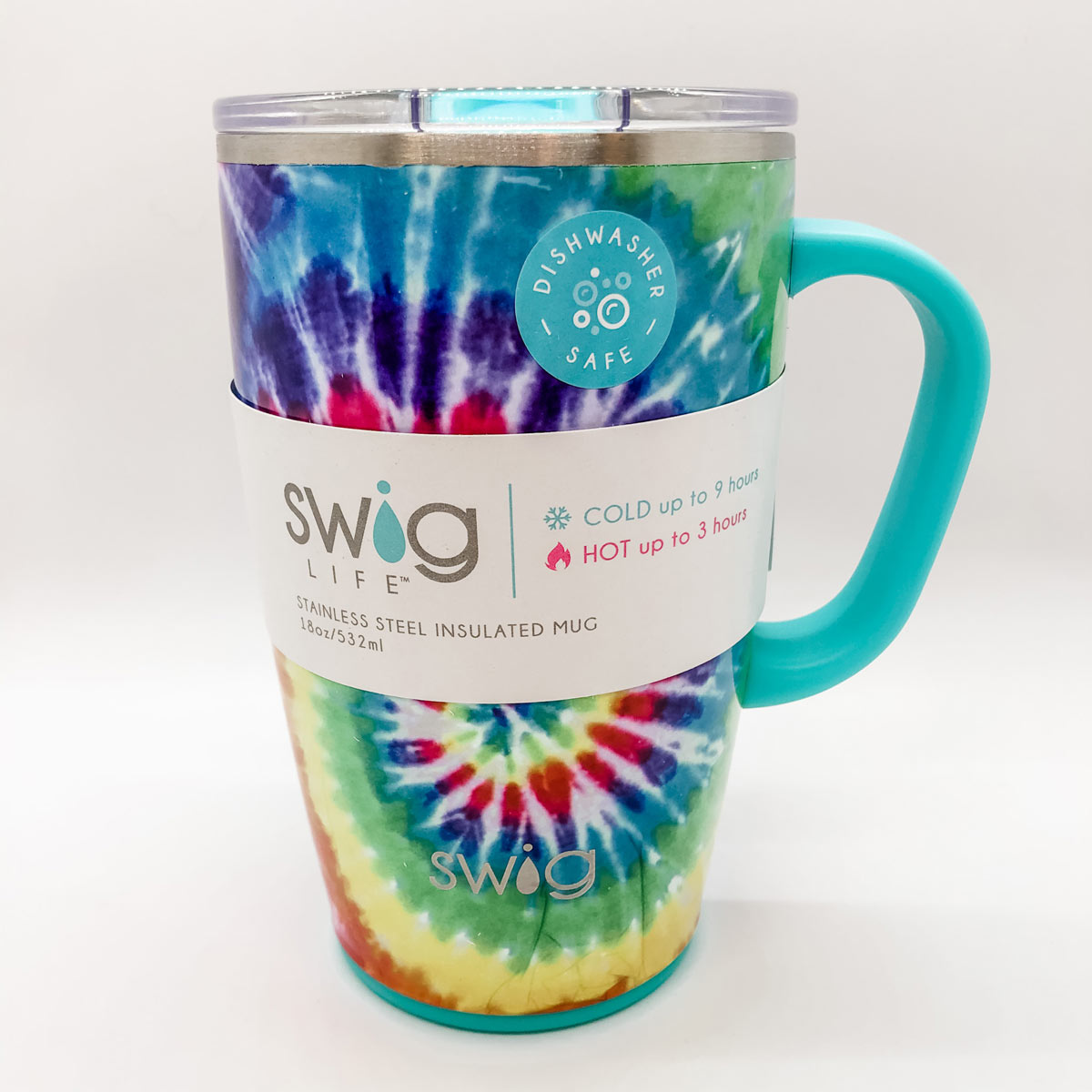 SWIG Swirled Peace Travel Mug