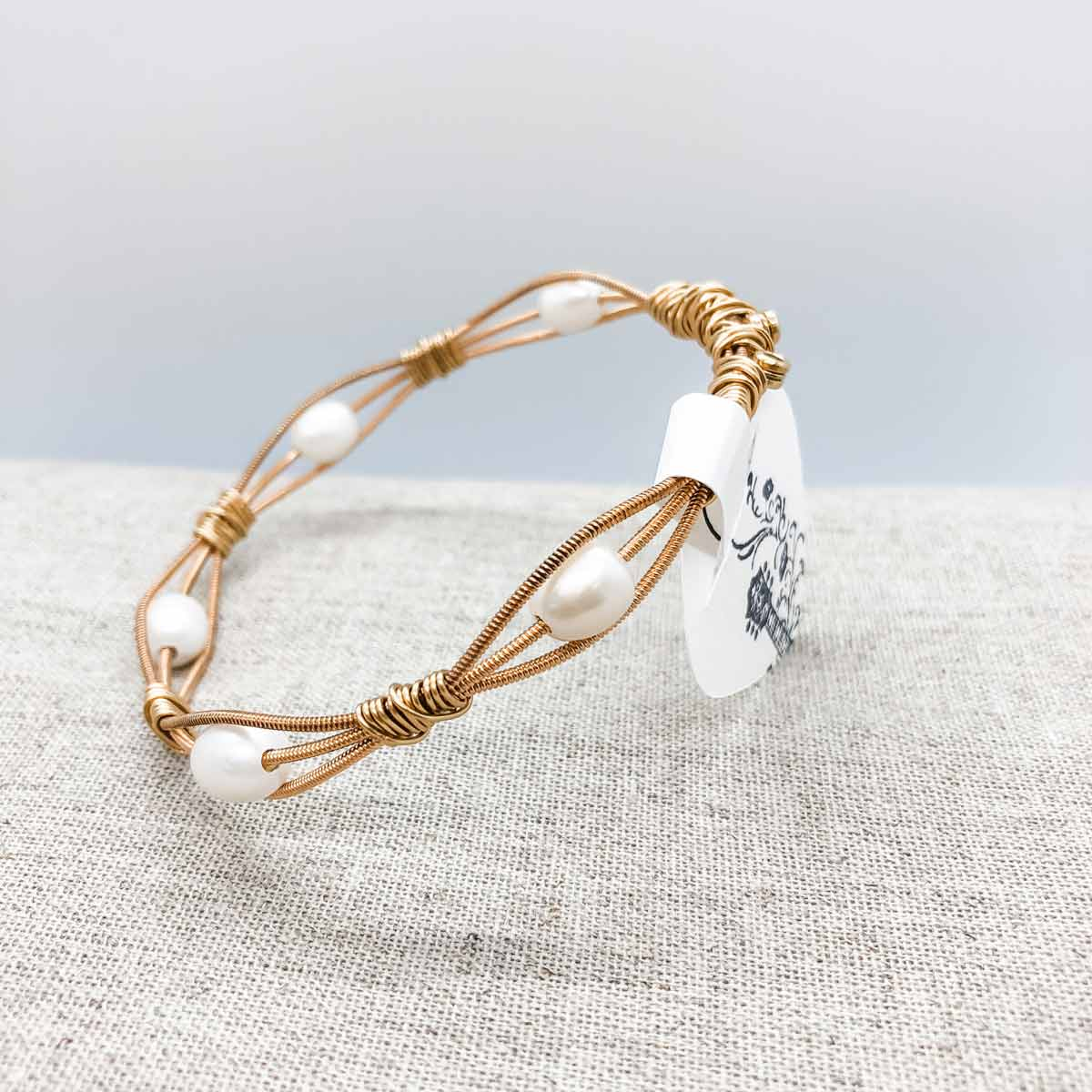 Bangle variety with added beads - Gold