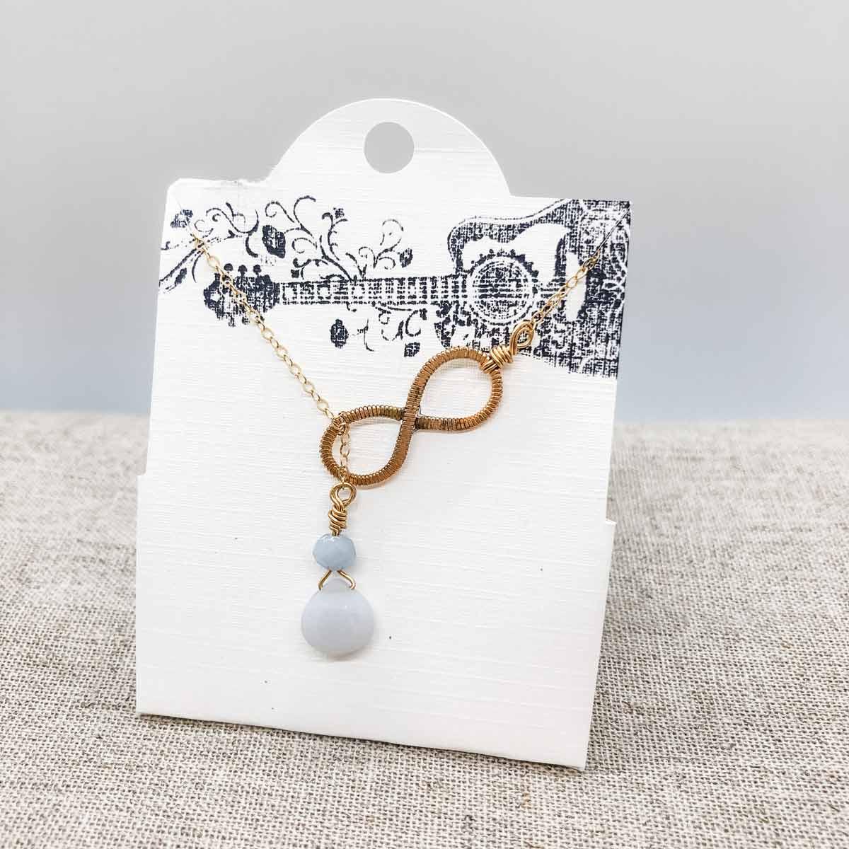 White Gemstone Necklace