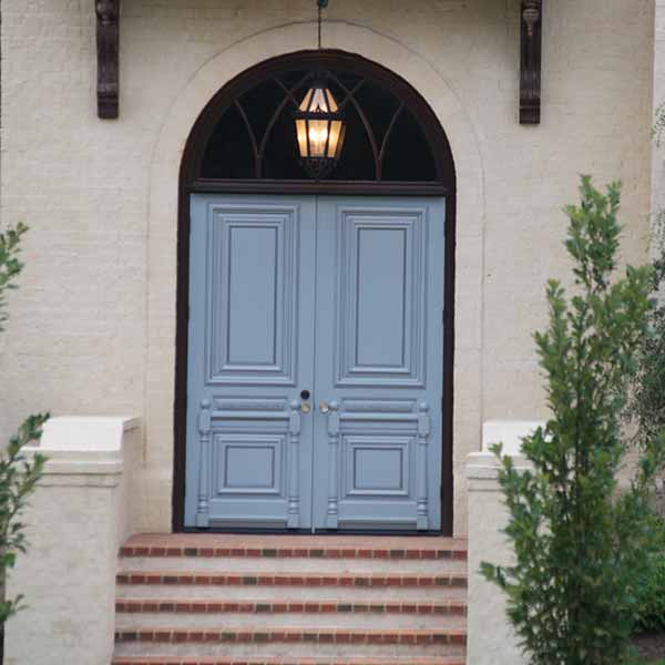 Blue Double Doors
