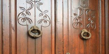 Wooden door hand carved