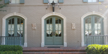Three doors on residential property