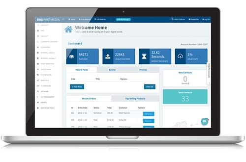 picture of a landsaper business website