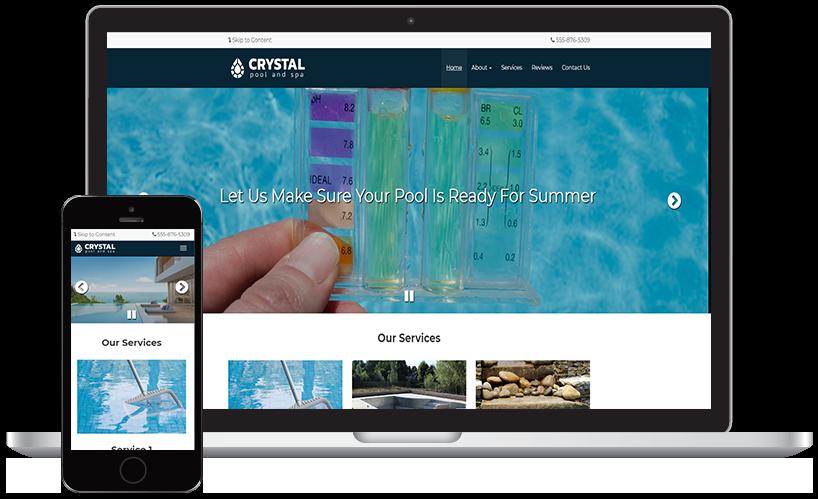 Crystal Pools Website Theme