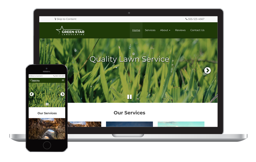 Green Star Landscaper Website  Theme