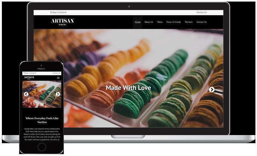 Artisan Bakery website Theme