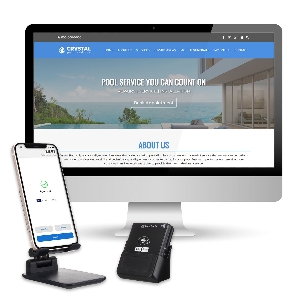 Get a free mobile card reader or free website