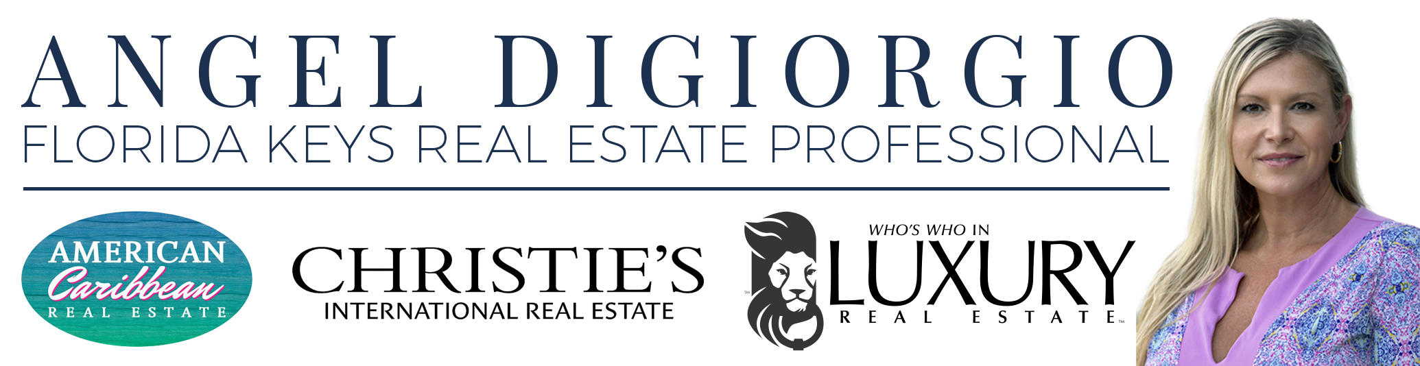 Banner for Angel Digiorgio Florida Keys Real Estate Professional