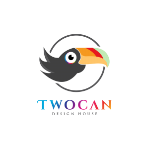 graphic of a twocan bird as the logo