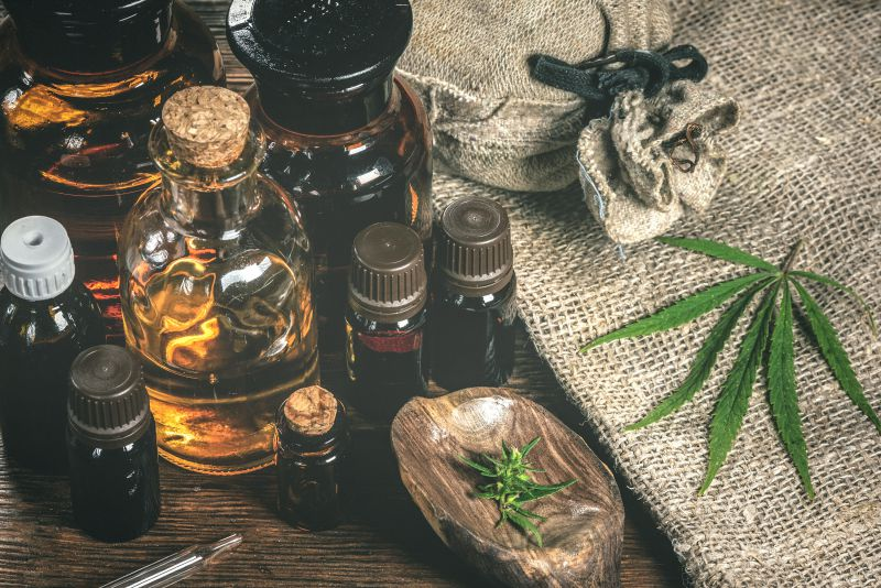 Assorted CBD products